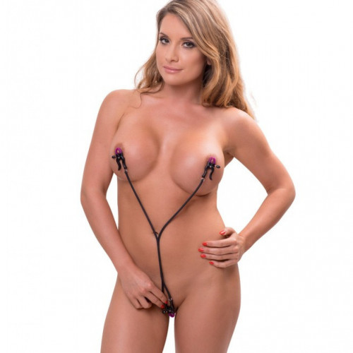 Bdsm clit clamps in use nude images