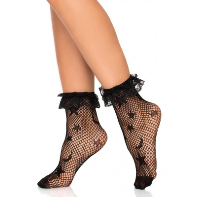 Leg Avenue Galaxy Fishnet Anklet with Ruffle