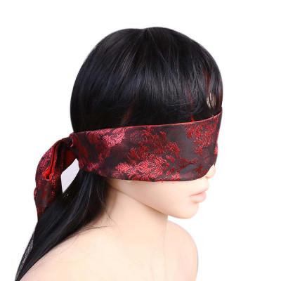 Black-Red Satin Blindfold Scarf