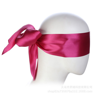 Dark Pink Satin Blindfold Scarf