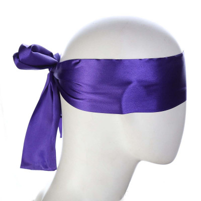 Purple Satin Blindfold Scarf