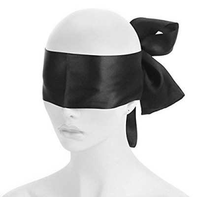 Black Satin Blindfold Scarf