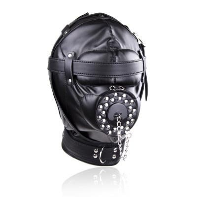 Bondage Multiplex Sensory Deprivation Black Leather hood