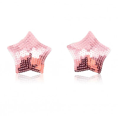 Pink Sparkling Star Nipple Covers