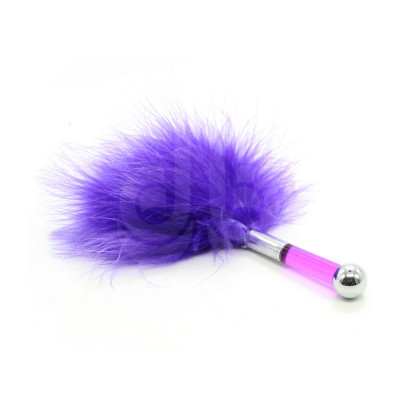 Tickle Me Senseless Fluffy Feather Teaser PURPLE 17cm
