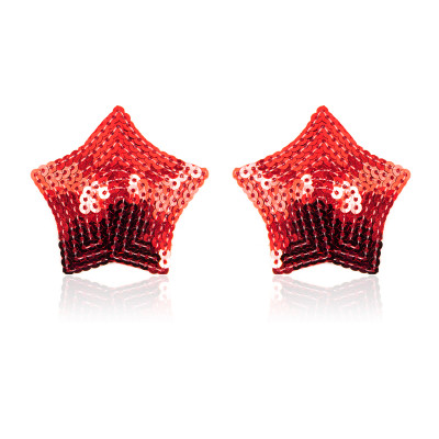Red Sparkling Star Nipple Covers