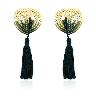 Naughty Toys Gold Burlesque Sequin Nipple Pasties