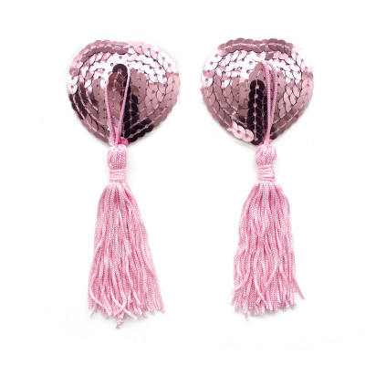 Naughty Toys Pink Burlesque Sequin Nipple Pasties