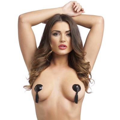 Naughty Toys Black Burlesque Jewel Nipple Pasties