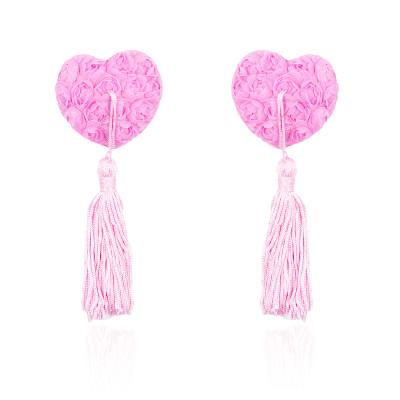Naughty Toys Pink Burlesque Rose Nipple Pasties
