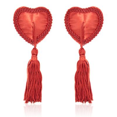 Naughty Toys Red Burlesque Heart Nipple Pasties