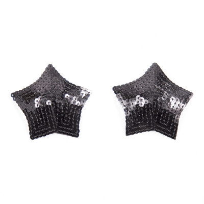 Black Sparkling Star Nipple Covers