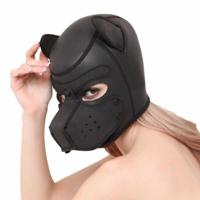 Small size Bondage Dog Puppy Neoprene Hood