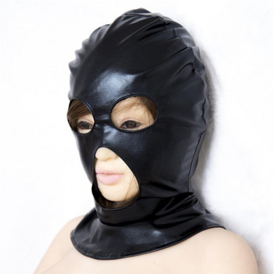Midlleage Εxecutioners Bdsm Spandex Hood with three openings