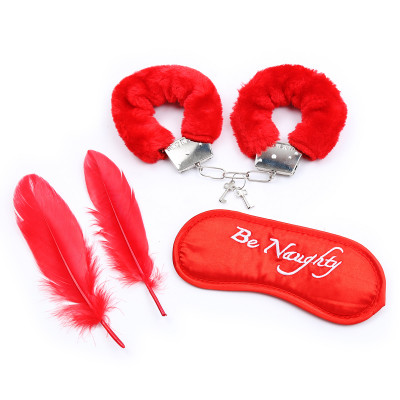Be Naughty Bondage Starter Kit Red
