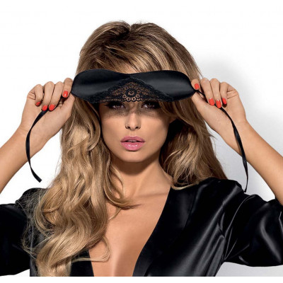 Obsessive Satinia Black  Eye Mask