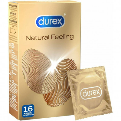 Latex free Durex Natural Feeling Condoms 16 pcs