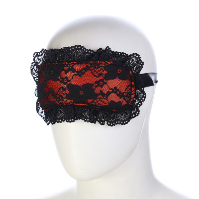 Naughty Toys Red Lace-Satin Blindfold
