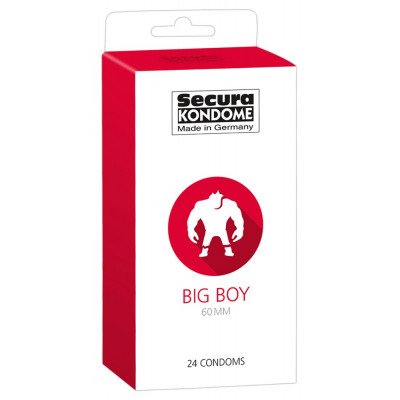 Secura Big Boy 60mm Condoms 24 pcs