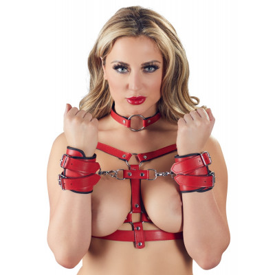 Bad Kitty 4 pcs Harness Set Red