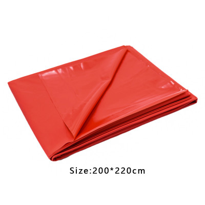 Double RED Vinyl BedSheet protective cover 2 X 2,20 m