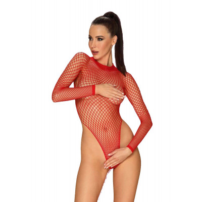 Obsessive Plus Size Mindblowing Net Teddy Red