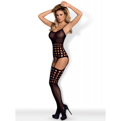 PLUS SIZE Obsessive Spicy Bodystocking with Round Notches