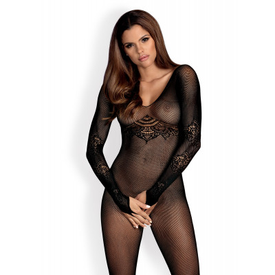Obsessive Spicy Net Bodystocking with Long Sleeves