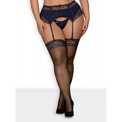 Obsessive Plus Size Drimera Stockings Blue
