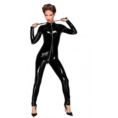 Noir Handmade PVC Catsuit with 3 ways-zipper