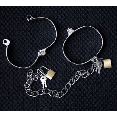 MEDIUM Metal Handcuffs or Ankle Cuffs 7 X 5cm
