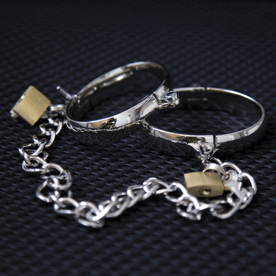 SMALL Metal Handcuffs or Ankle Cuffs 5.5 X 4.5cm