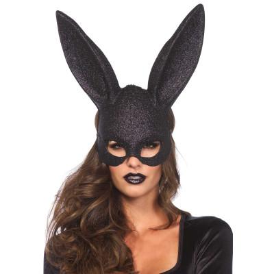 Leg Avenue Black Glitter Bunny Mask