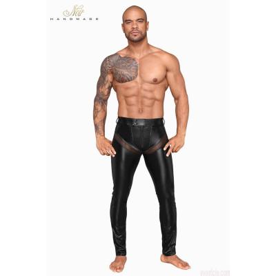 Noir Handmade Powerwetlook Long Pants with Net Insert