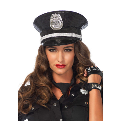 Leg Avenue Sequin Sparkly Cop Hat