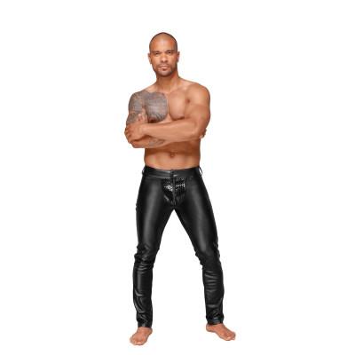 Noir Handmade Powerwetlook Trousers with PVC Pleats