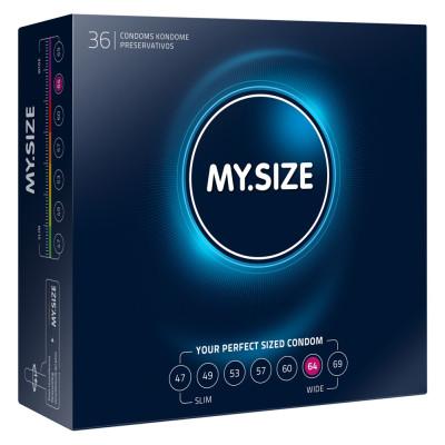 Προφυλακτικά μεγεθών MySize 64mm 36τμχ