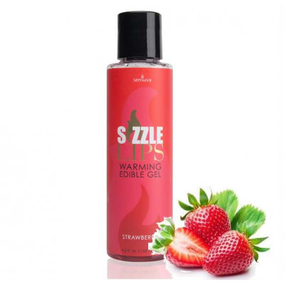 Sensuva Sizzle Lips Warming Edible Gel Strawberry 125 ml