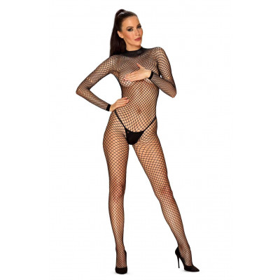 Plus Size Obsessive Spicy Fishnet Crotchless Catsuit