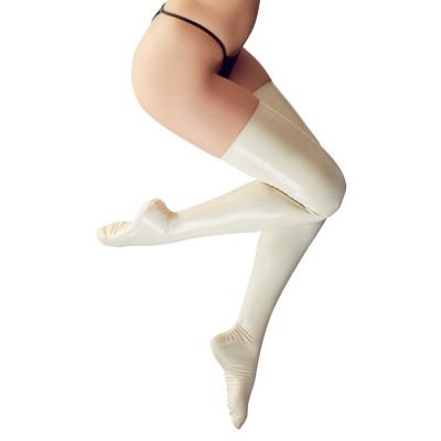 Φετιχιστικές Λάτεξ Κάλτσες σε Άσπρο χρώμα