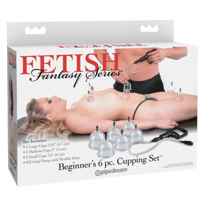 Fetish Fantasy Beginner's 6 pcs Cupping Set