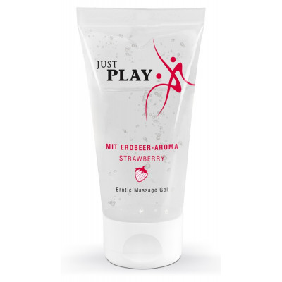 Just Play Erotic Massage Gel Strawberry 50ml