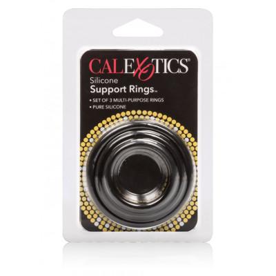 Σετ Τρία δαχτυλιδια υποστήριξης Πέους και Όρχεων για σκληρότερη στύση Calexotics