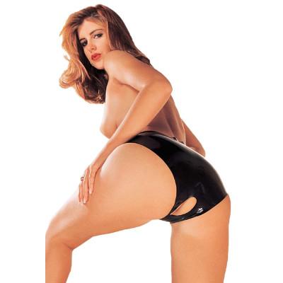 Sharon Sloane Latex Open Crotch Hot Pants