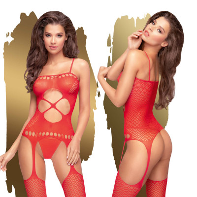 Penthouse Hot Nightfall Bodystocking S-L Red