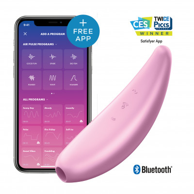 Satisfyer Curvy 3+ Clitoral vibrator with Bluetooth and App
