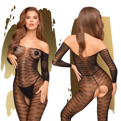 Penthouse Dreamy Diva Sheer Bodystocking Black S-L