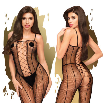 Penthouse Drop-Dead Tasty Criss Cross Bodystocking S-L Black