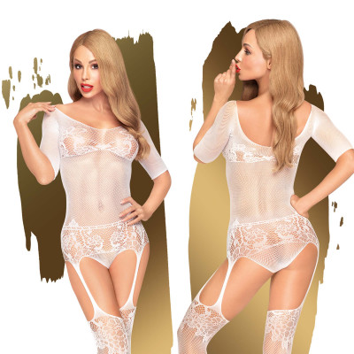 Penthouse Sugar Drop Bodystocking S-L White