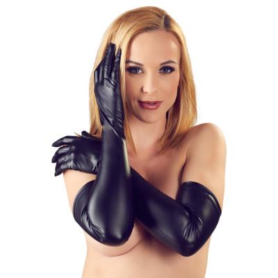 Cottelli Long Matte Gloves Black S-L